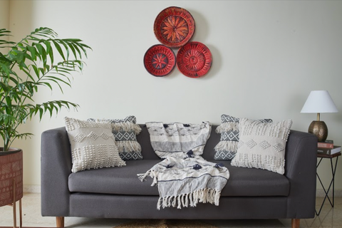 Use Cushions & Throw Blankets to Add Character to Your Living Room