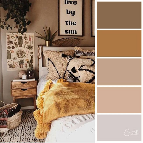 Use Earthy Color Palettes for home decor in 2021