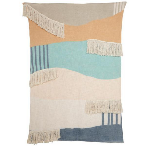 Yellow or Coral Boho Throw Blankets
