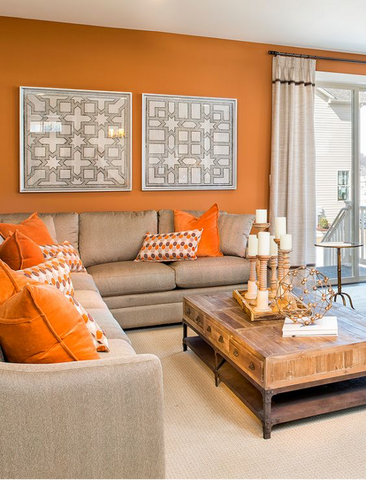 Burnt Orange Accent Wall