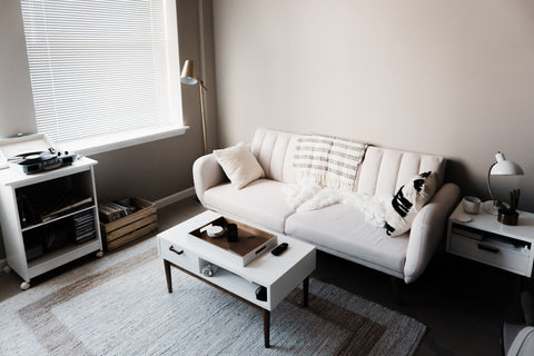 Use textures in Monochromatic rooms to help break up the focal point