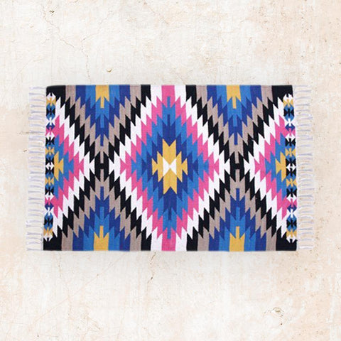 Colorful Floor Rug you can use as Wall Art by The Artisen