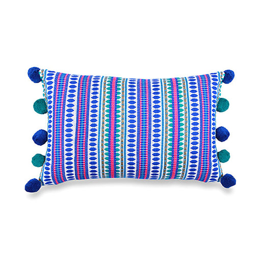 Blue Capsule Cushion, 12x26 Inch