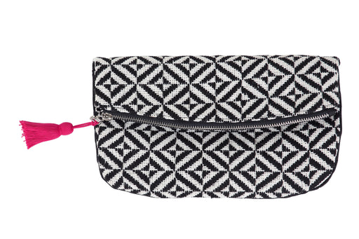 Black Diamond Foldover Clutch 6.5 x10 inch Clutch - The Artisen