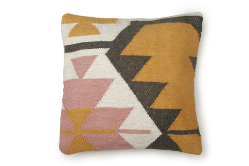 Desert Kilim Geometric Pillow, Blush 20x20 inch Cushion - The Artisen
