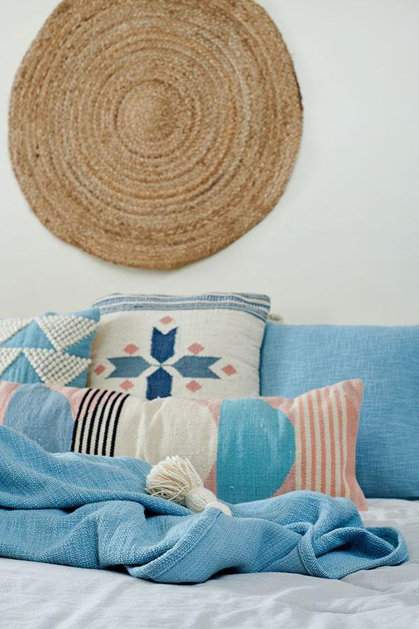 Handmade Circle Geo Lumbar Cushion, Multi - 12x34 inch Cushion - The Artisen