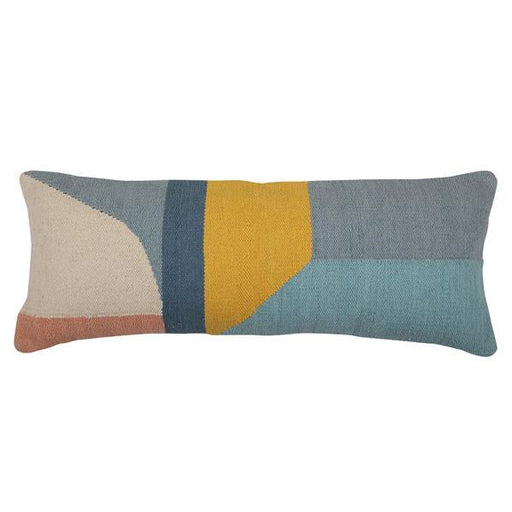 Handmade Geo Shapes Lumbar Cushion, Multi - 12x30 inch Cushion - The Artisen
