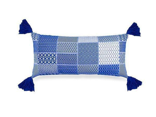 Santorini Lumbar Pillow 12x27 inch Cushion - The Artisen