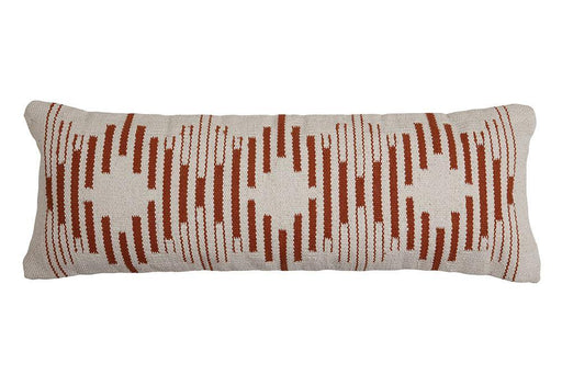 Terra Diamond Lumbar Pillow - 12 x 34 inch Cushion - The Artisen