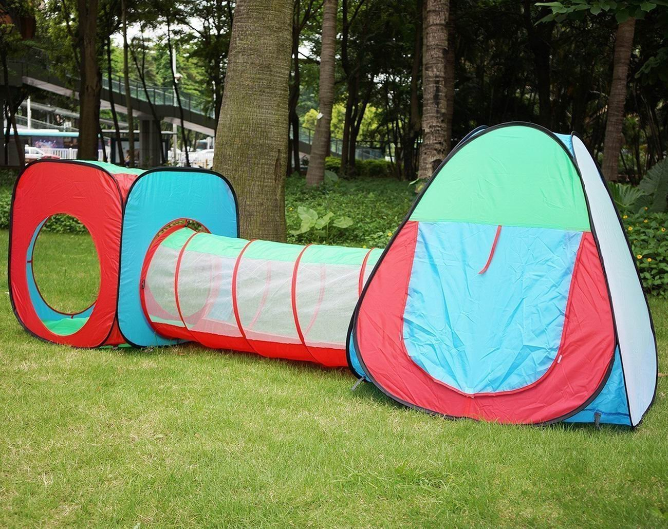 ... Kids Indoor Play Tent With Tunnel SetOutdoor Children Playhouse Ball Tent - Perfect Gift ... & Kids Play Tent With Tunnel SetOutdoor Children Playhouse u2013 VicPow