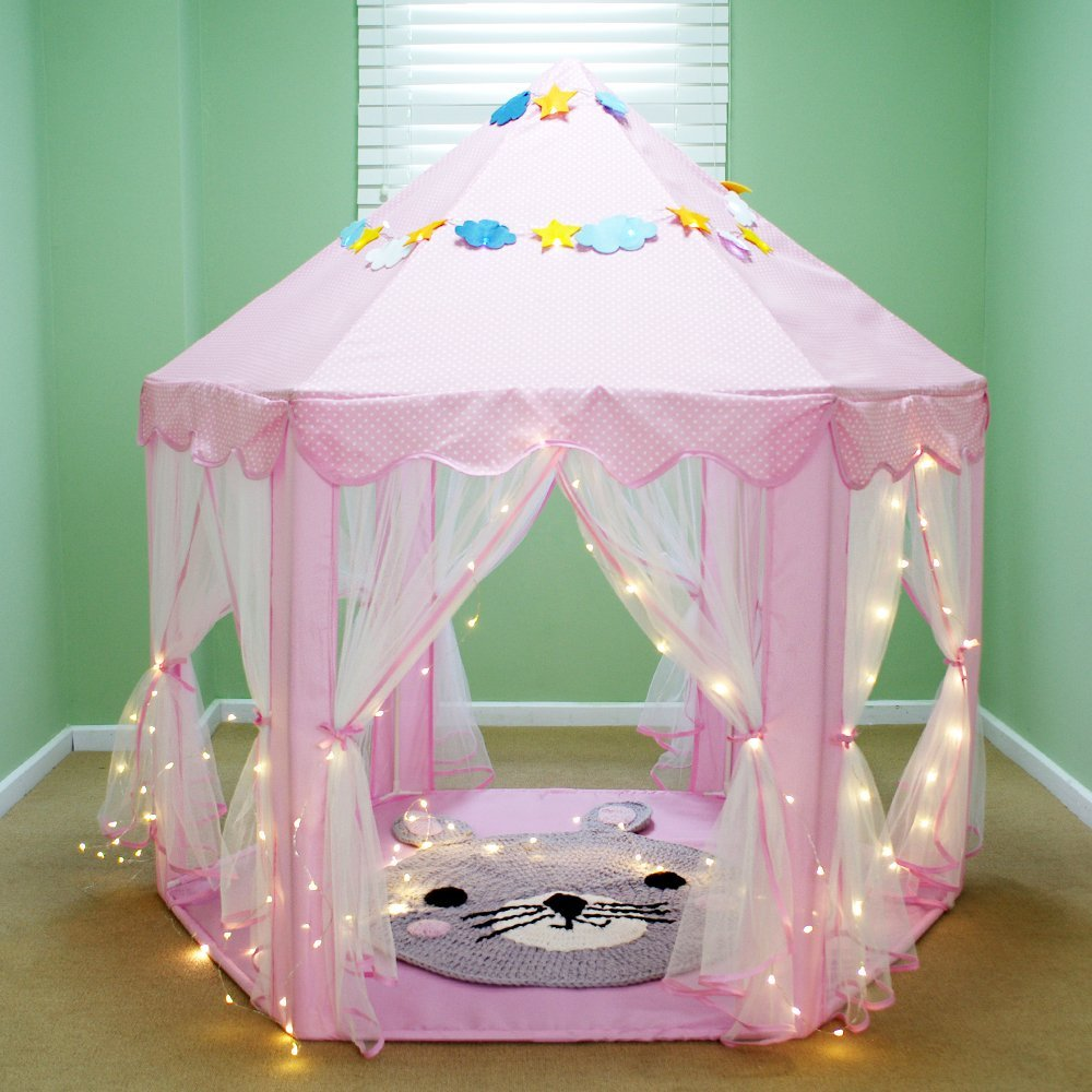 ... Kids Princess Castle Play TentGirls Indoor Playhouse with Small Led Star Lights55 ... & Kids Princess Castle Play TentGirls Indoor Playhouse u2013 VicPow