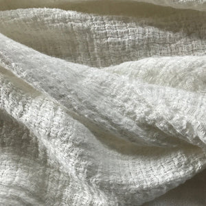 Sia Linen Throw Milk