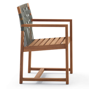 Network 159  Teak Armchair Grey