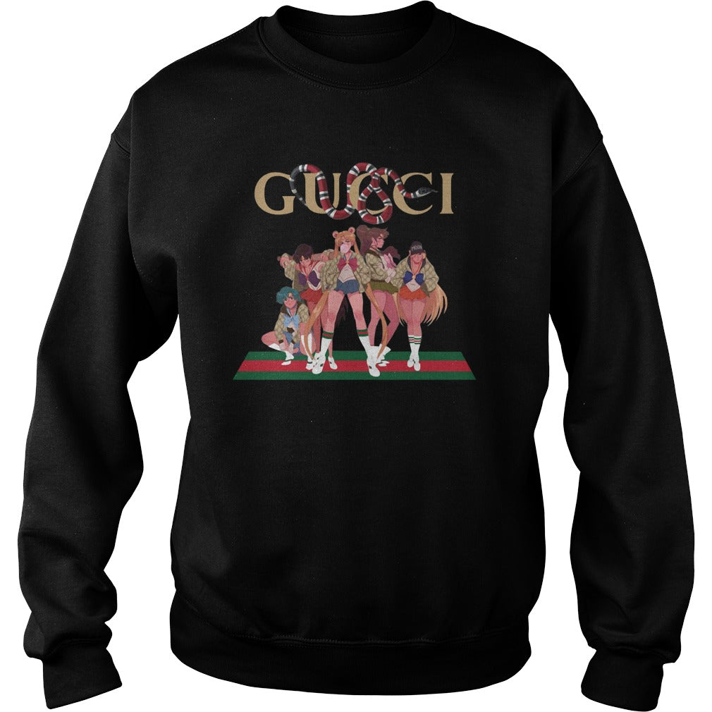 4f861db7820 Gucci Sailor Moon Gang Street Mashup shirt SweatShirt - Alottee