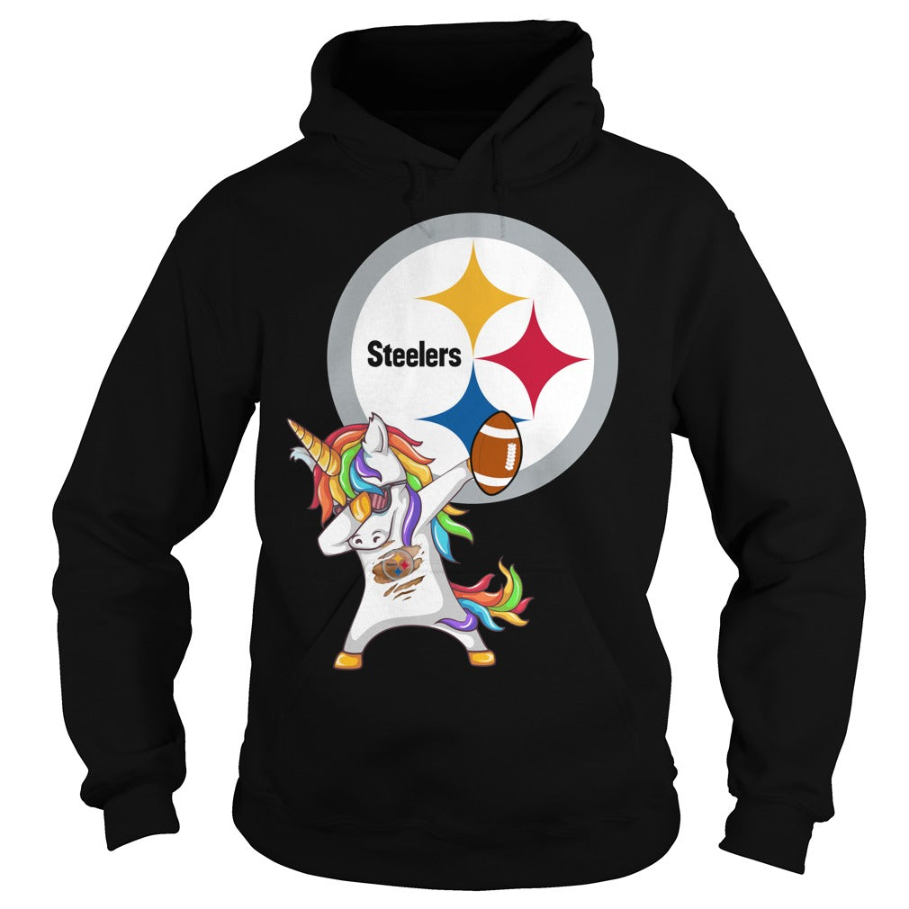 the best attitude 948b8 0b468 Pittsburgh Steelers Football Unicorn Dabbing shirt Hoodie