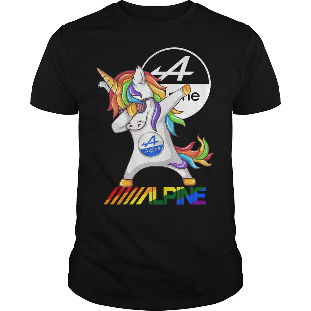 Alpine Electronics Unicorn Dabbing shirt Men