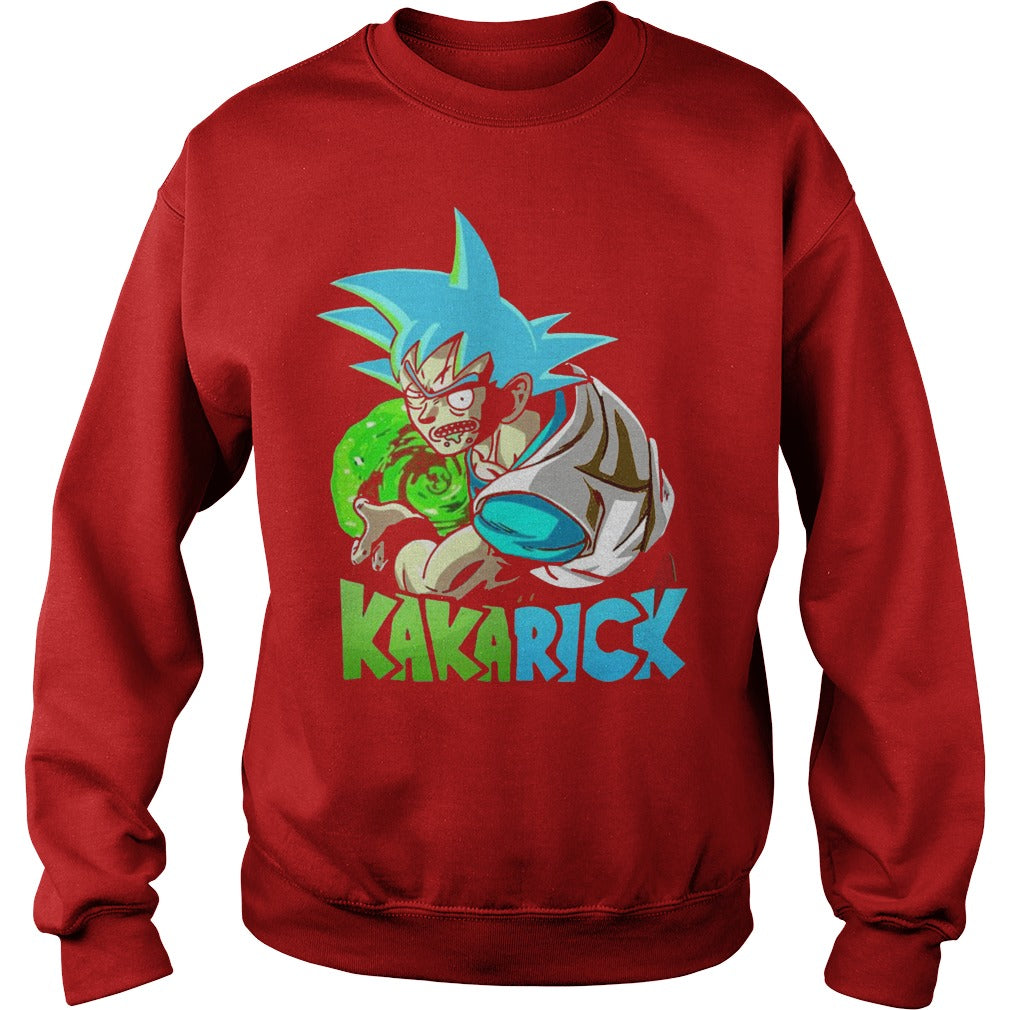 685b935d Rick Morty Dragon Ball Z Kakarick Shirt SweatShirt - Alottee