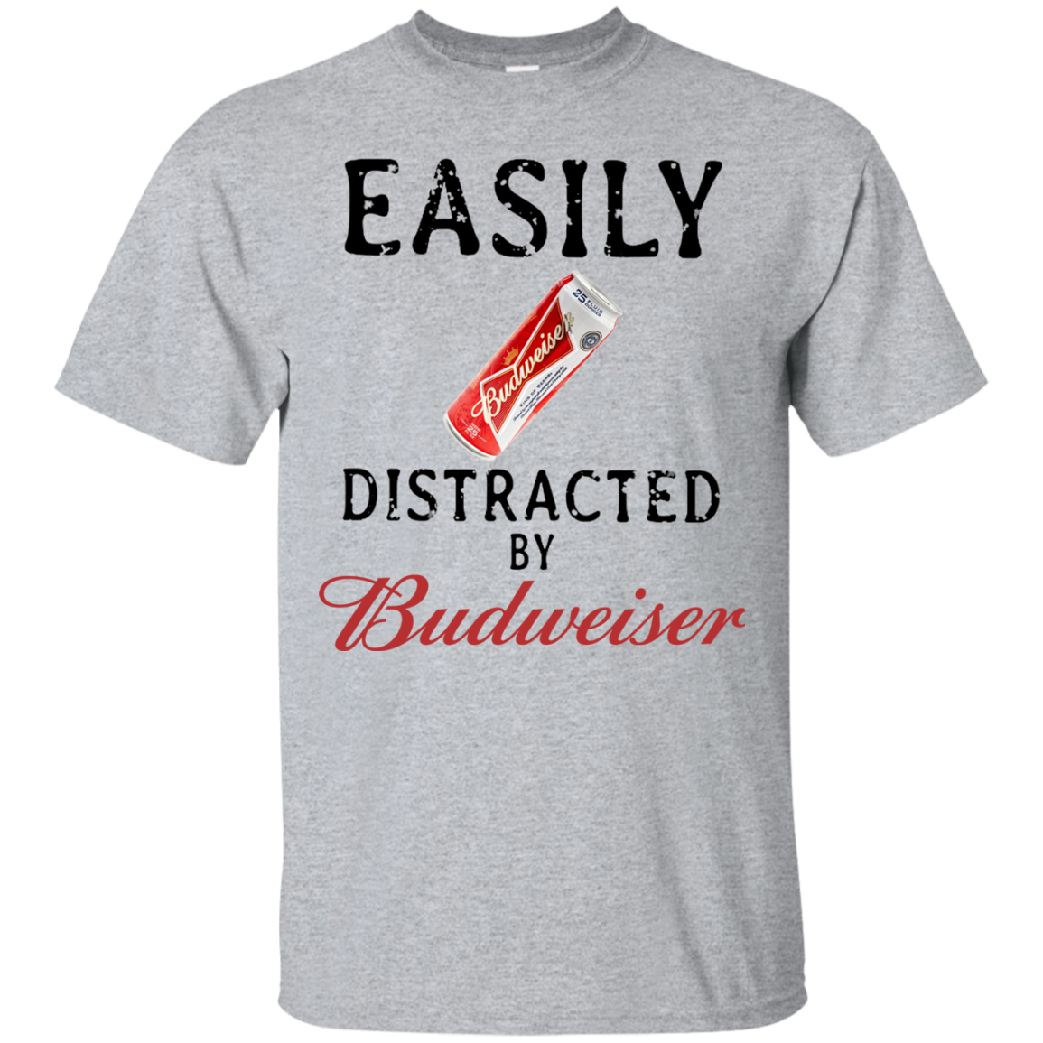 624acfc53 Easily distracted by Budweiser T shirt hoodie sweater Men - Alottee