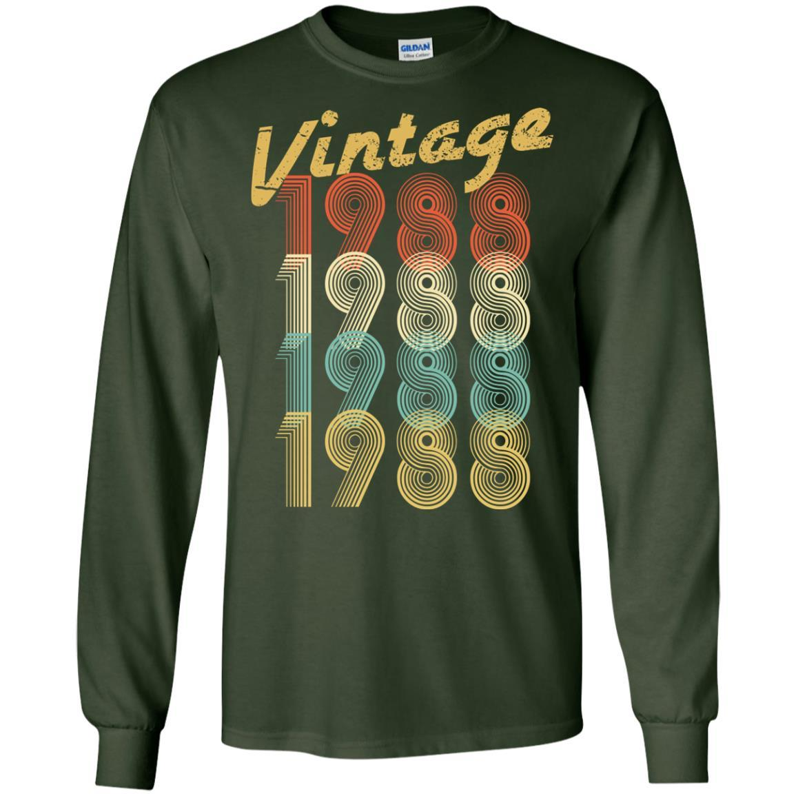 1988 Vintage Funny 30th Birthday Gift Shirt For Him Or Her Long Sleeve 240