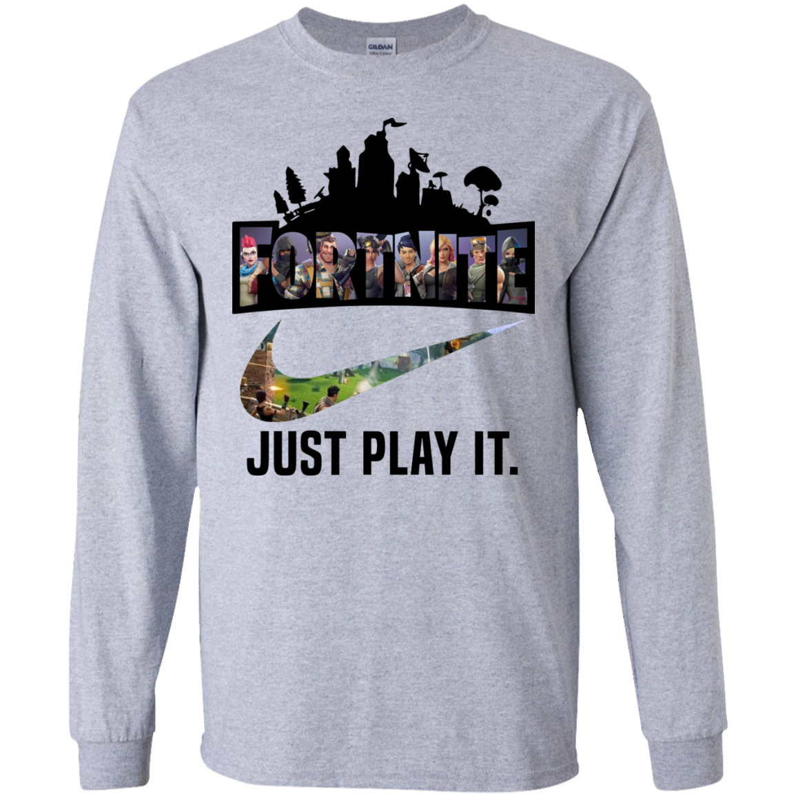 0a2a0ff97 Fortnite Game – Just Play It logo nike shirt Ultra Cotton shirt Men ...