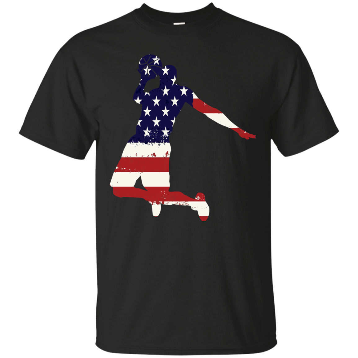 4th of July t shirt Patriotic Basketball American flag Men