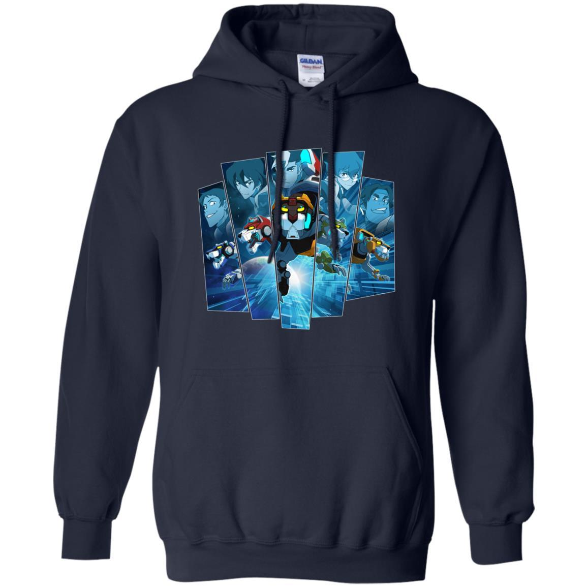 Voltron Legendary Defender 5 Lions In Blue Hue T Shirt Hoodie