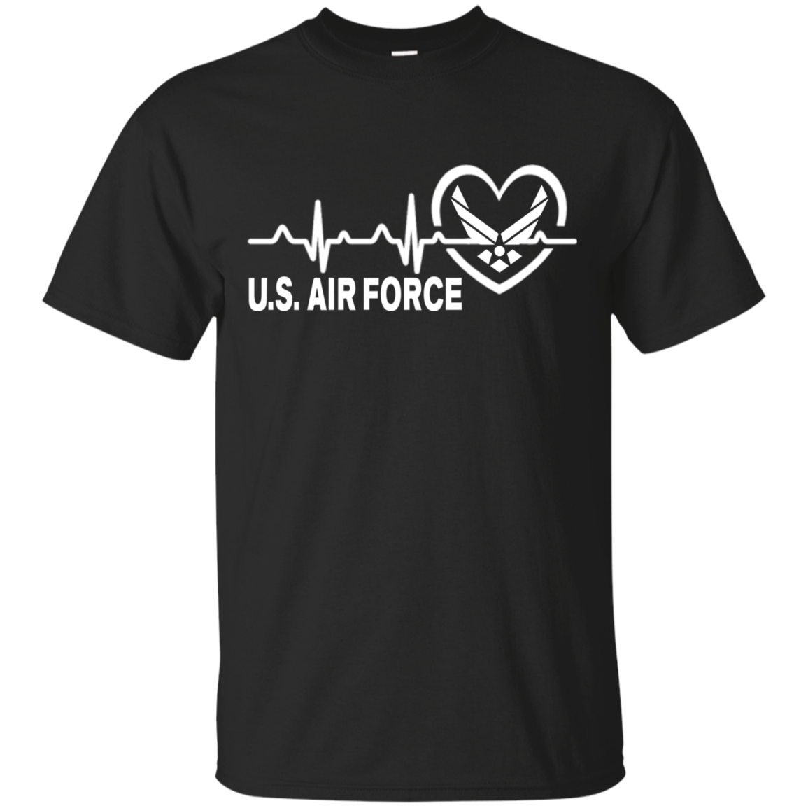 Air Force US in my heart t shirt I love Air Force Men