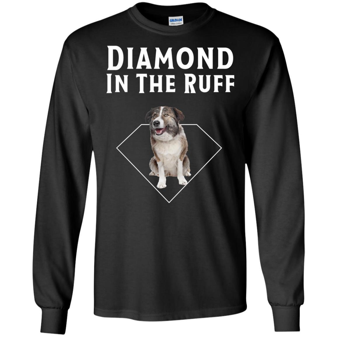 Aidi Diamond in The Ruff Dog Lover T-Shirt Long Sleeve 240