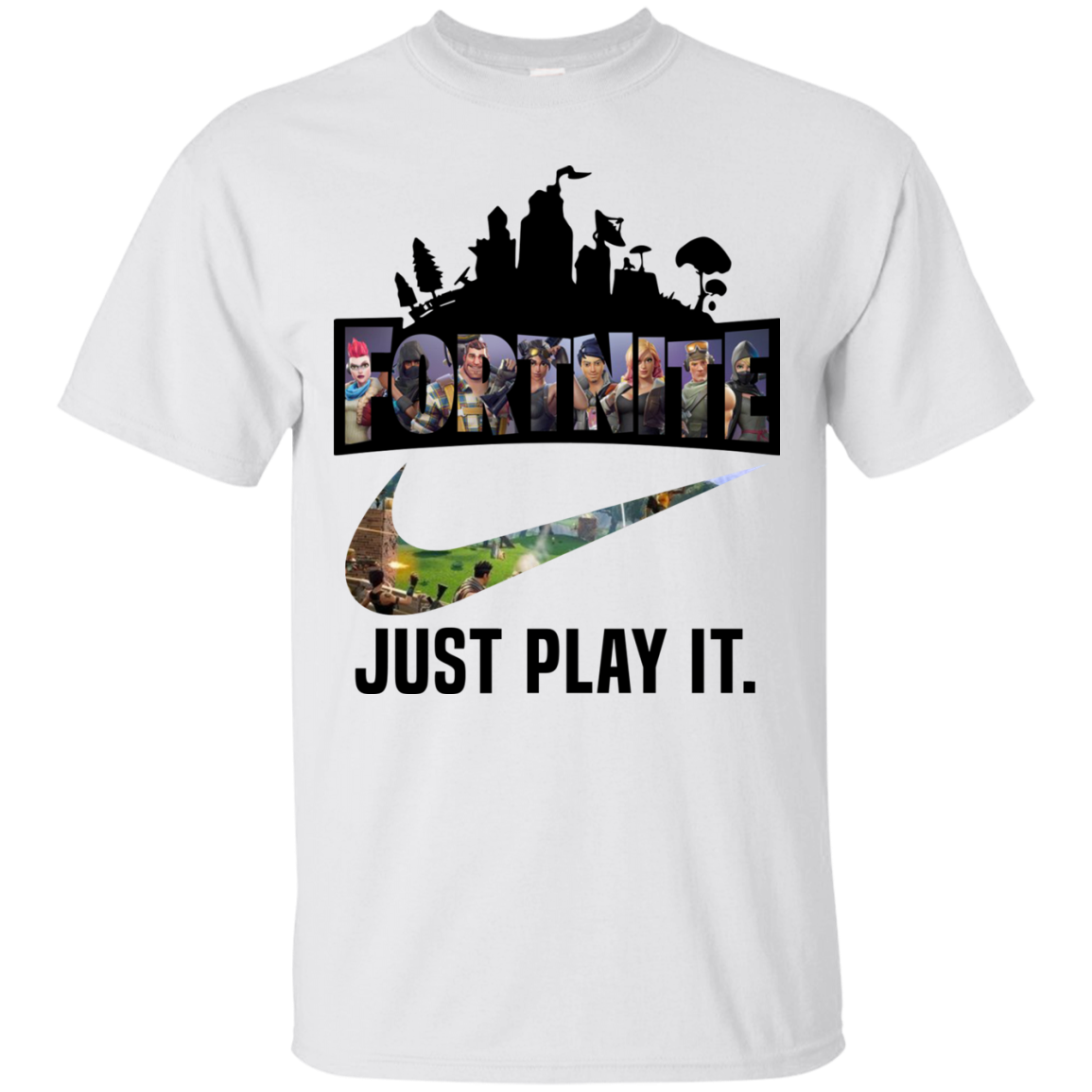 fc8f3acfc Fortnite Game – Just Play It logo nike shirt Cotton shirt Men - Alottee