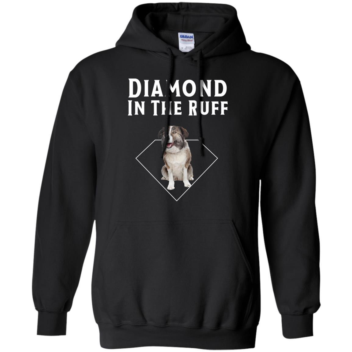 Aidi Diamond in The Ruff Dog Lover T-Shirt Hoodie