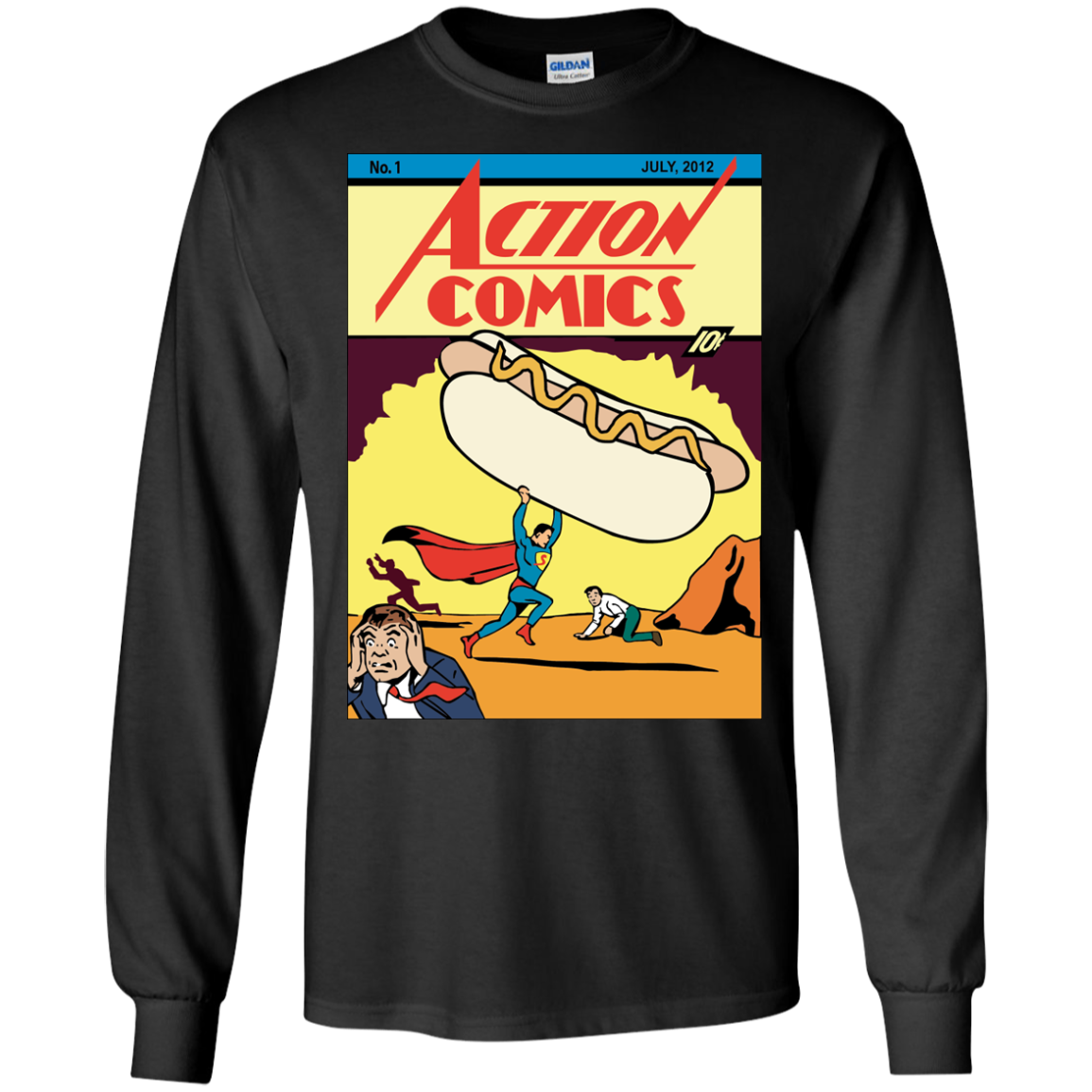 Action comics No. 1 T-Shirt Long Sleeve 240