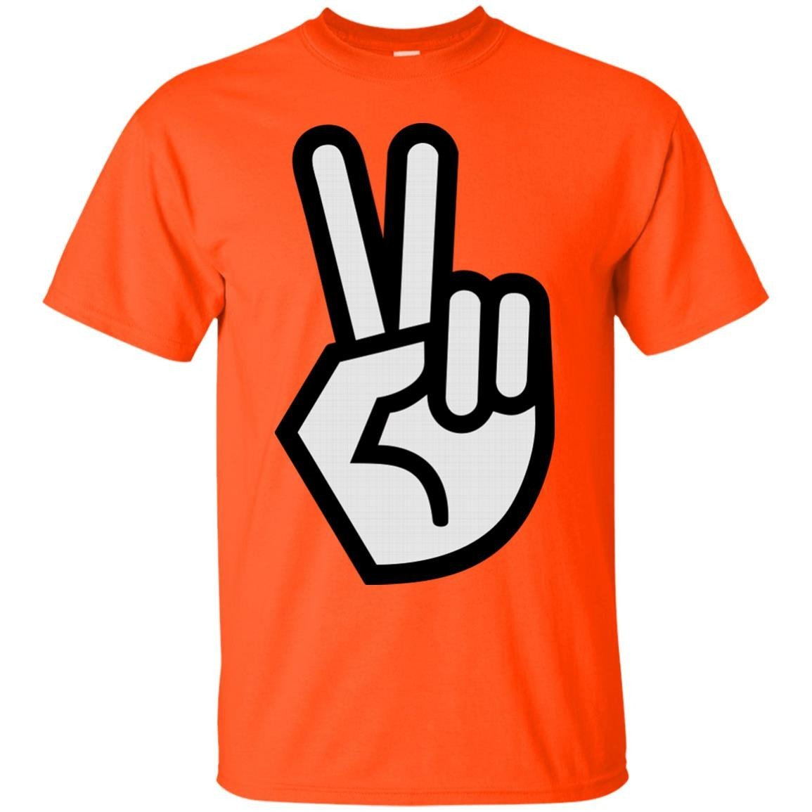 peace sign design t-shirt for men red t-shirt peace fingers