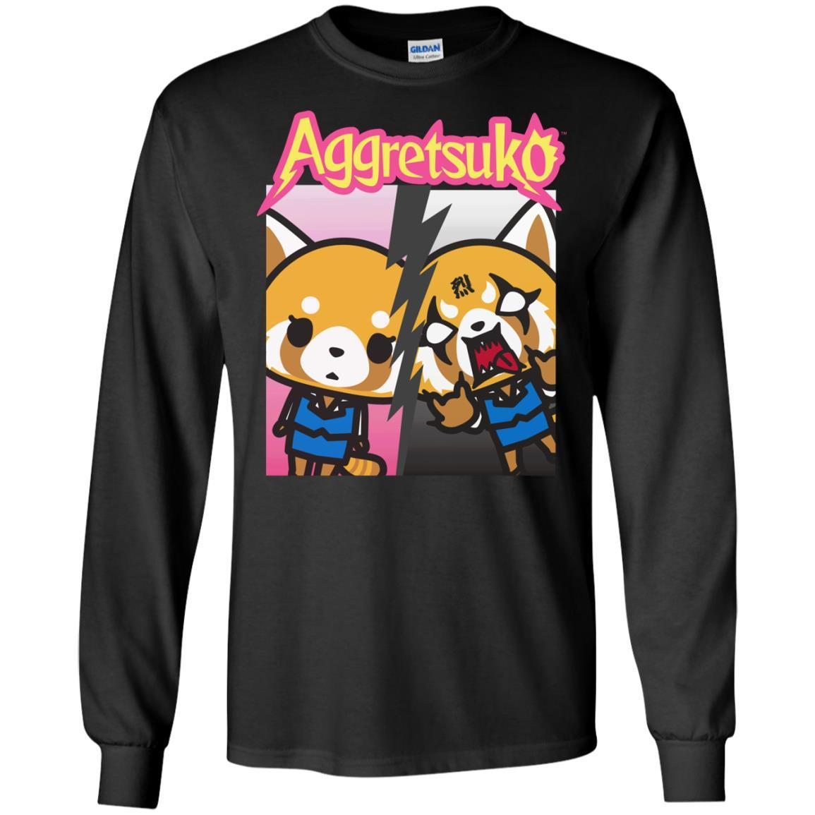 Aggretsuko Split Personality Tee Shirt Long Sleeve 240