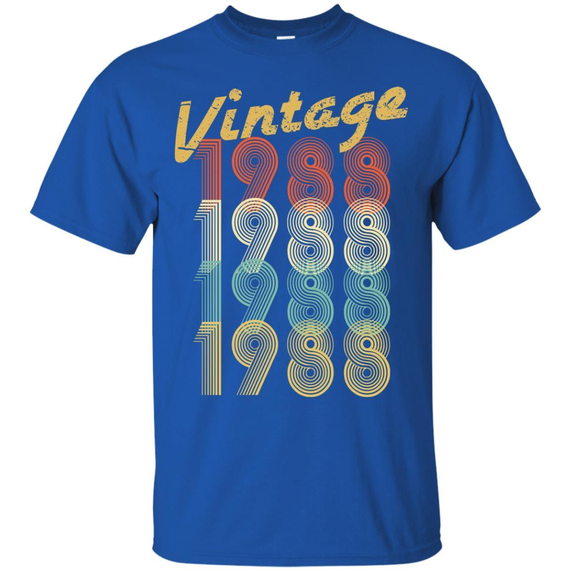 1988 Vintage Funny 30th Birthday Gift Shirt For Him Or Her Men