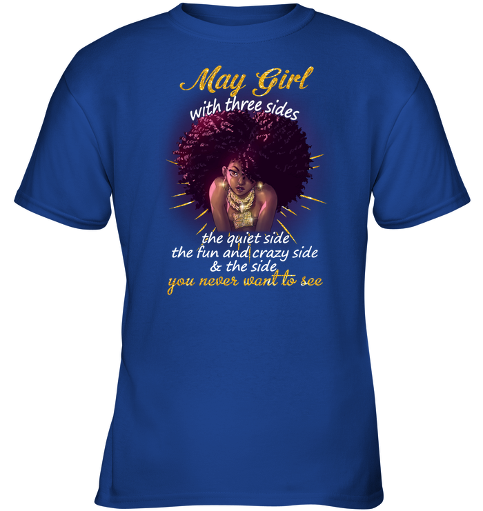 May Girl With Three Sides Kids Tee