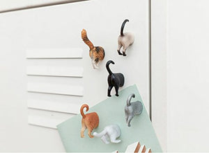 Kikkerland Cat Butt Magnets, Set of 6 (MG53)