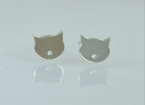 Silver Cat Earrings