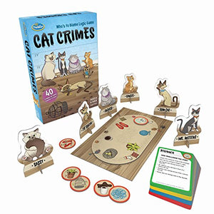 ThinkFun Cat Crimes Logic Game Brainteaser Challenge
