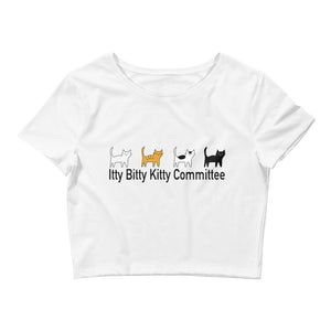 """Itty Bitty Kitty Committee"" Crop Top"