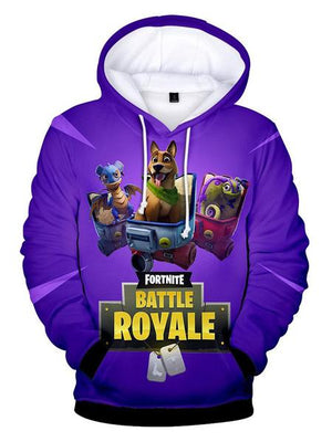 Fortnite 3D Print Casual Long Sleeve Hoodie