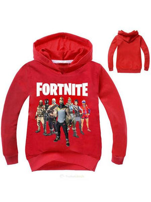 Fortnite Printed Long Sleeve Cotton Hoodie For Kids