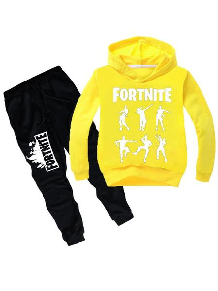 a10776ca88b Fortnite Kids Graphic Hoodie Casual Two Piece Sets