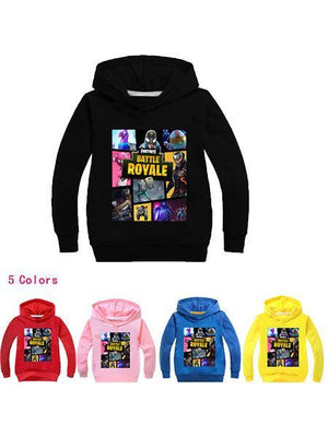 Fortnite Casual Cotton Printed Hoodie For Kids