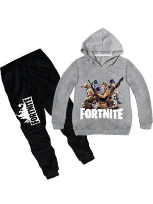 Fortnite Cotton Printed Hoodie Two Piece Sets