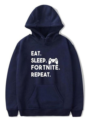 Fortnite Plus Size Letter Print Graphic Pullover Hoodie