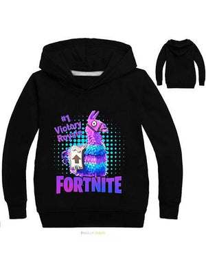 Fortnite Pullover Printed Cotton Long Sleeve Hoodie
