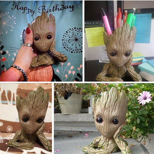 Guardians of The Galaxy Baby Groot Action Figures Flowerpot Cute Model Toys Desktop Polyresin Planter