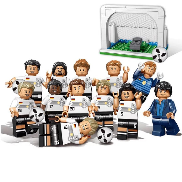 Soccer & Basketball Player Minifigures Set