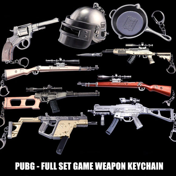 PLAYERUNKNOWN'S BATTLEGROUNDS PUBG Key Chain accessories Souvenir Gifts gun model