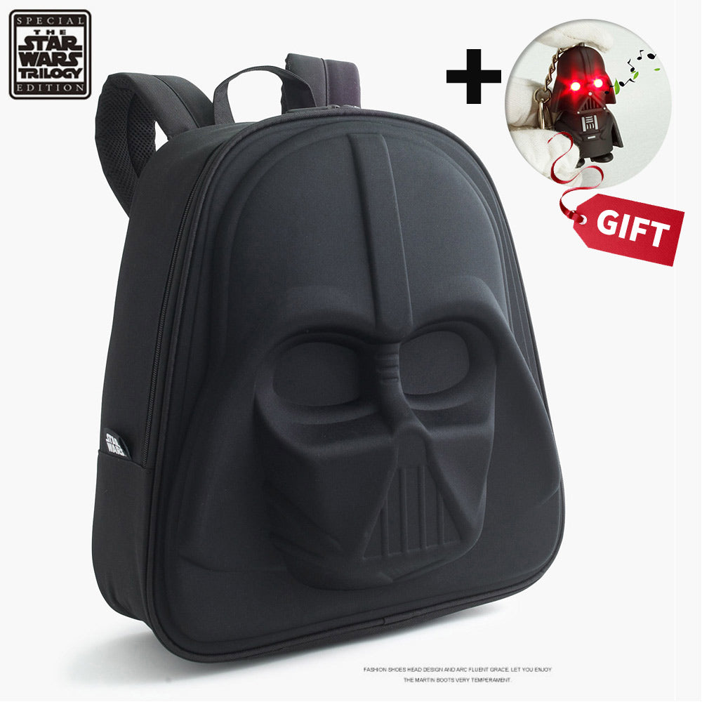 Star Wars 3D Backpack & Keychain Darth Vender Teenager Cool Zipper School And Official Bags New